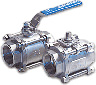 Stainless Steel 3-Piece Ball Valves
