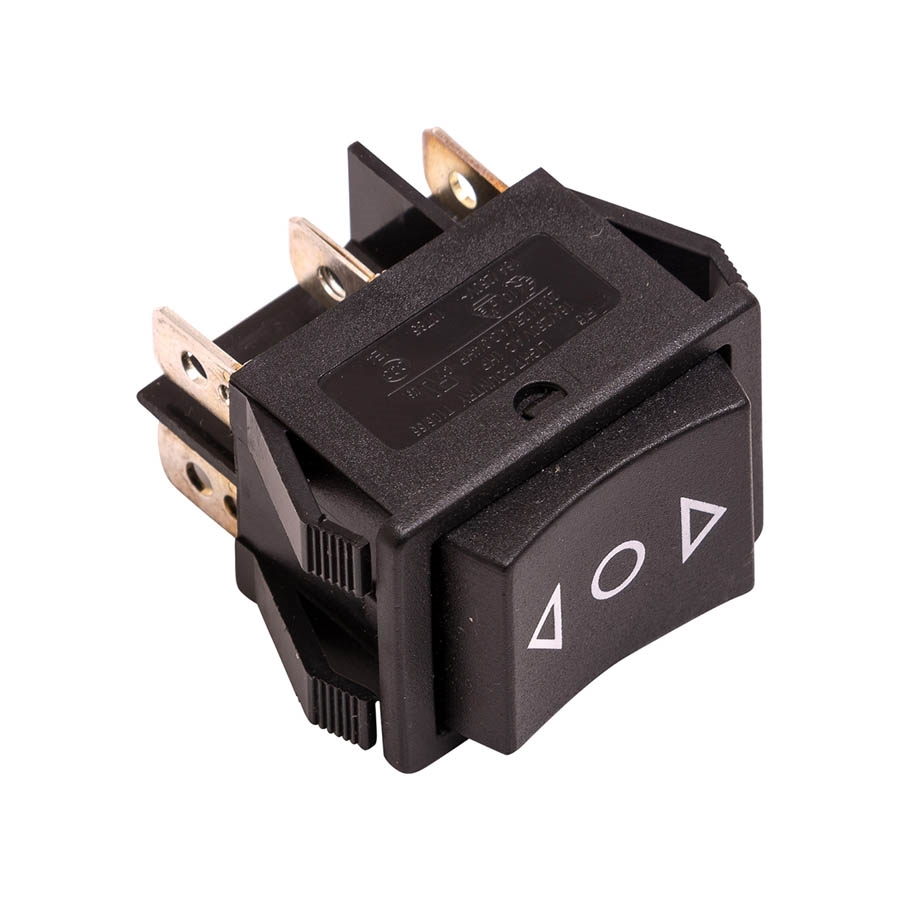 Momentary rocker switch for 3 com switch